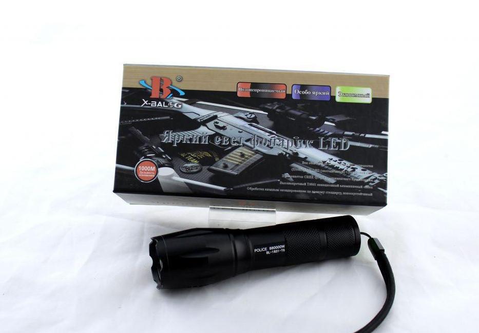 Тактический фонарик Bailong BL 1831-T6, Яркий ручной фонарик, Аккумуляторный фонарик с светодиодом ручной