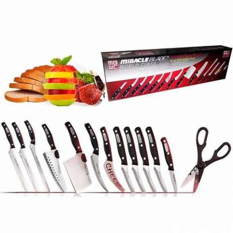 Набор ножей Mibacle Blade 13in1, Набор кухонных ножей, Чудо-ножи Мирэкл Блэйд, Прочные острые ножи