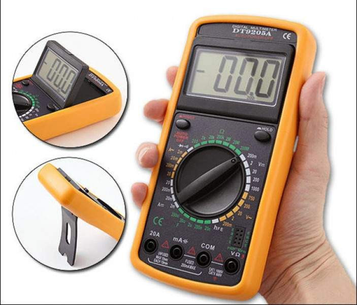 Multimeter 9205, Мультиметр digital multimeter, Компактный мультиметр, Тестер цифровой