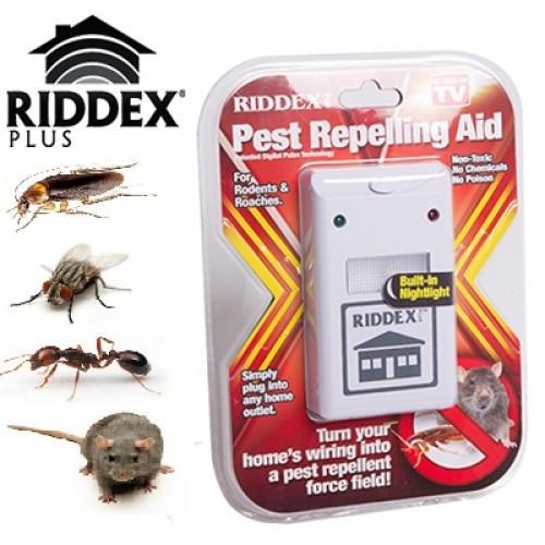 Отпугиватель RIDDEX, Электромагнитный отпугиватель грызунов и насекомых, Электронный отпугиватель
