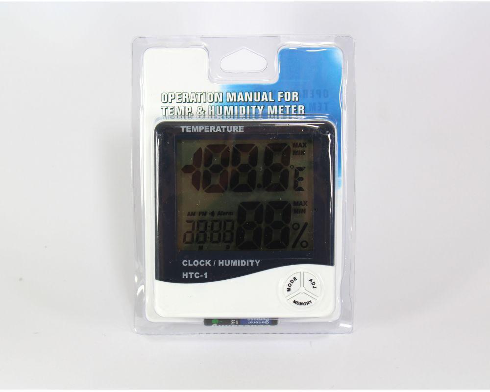 Термометр HTC-1, Комнатный термометр, Измеритель влаги, Цифровой термометр-гигрометр, гигрометр электронный