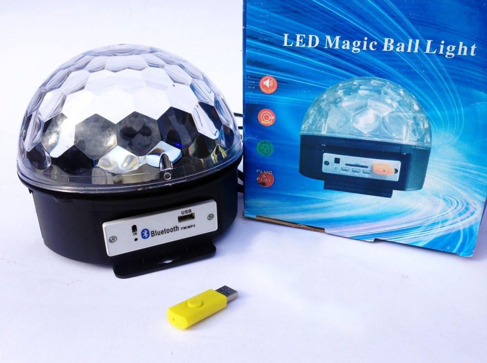 Диско-шар Musik Ball XXB 01/M6 + BT, Светомузыка диско шар, Диско-шар с динамиками, MP3 плеером и Bluetooth