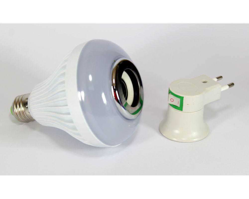 Диско лампа Ball 2015-2, Светомузыка лампочка, Светодиодная диско лампа, Лампочка разноцветная