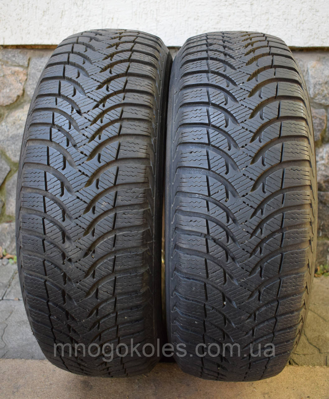 Шини б/у 185/60 R14 Michelin Alpin, ЗИМА, 6.7 мм, пара
