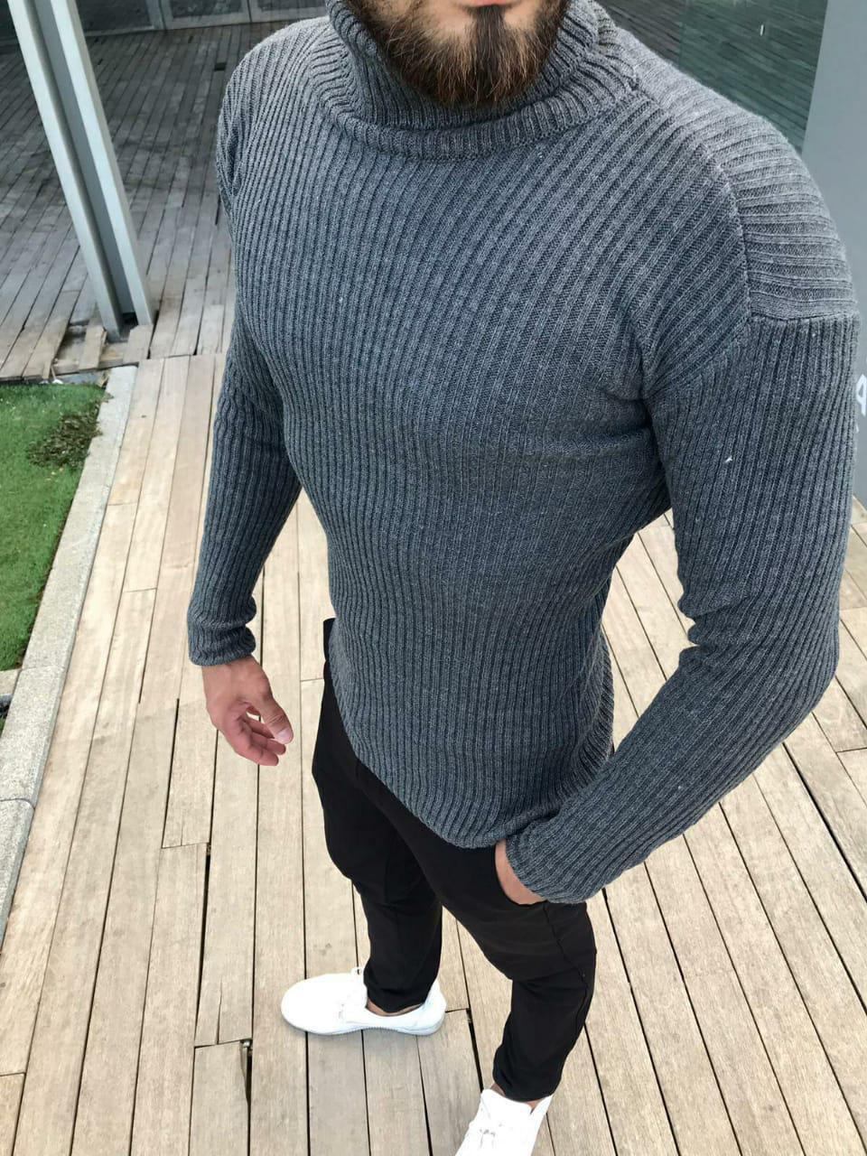 😜 Гольф - мужской классический гольф с вертикальными рельефными полосками