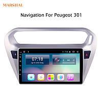 Штатная Магнитола MARSHAL P9309 Peugeot 301 Citroen C-Elysee  Android 8.1 GPS