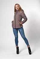 Женская демисезонная куртка. Код модели К-145-37-20. Цвет беж.