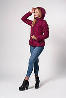 Женская демисезонная куртка. Код модели К-145-37-20. Цвет фуксия.