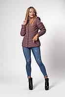 Женская демисезонная куртка. Код модели К-146-37-20. Цвет какао.