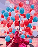 Картина по номерам Следуй за мной.Шары Парижа, 40x50 см., Rainbow art