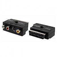 Переходник SH3007, Cart-3RCA/S-Video с переключателем in/out, Переходник-адаптер