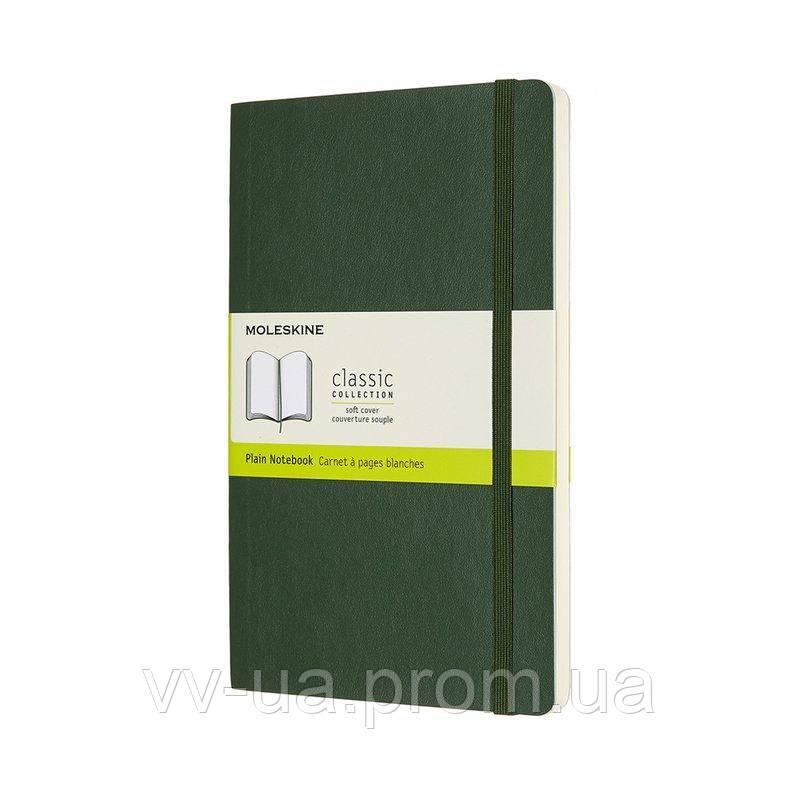 Записная книга Moleskine Classic средняя, мягкая обл., миртовый зеленый, нелинованная (QP618K15)