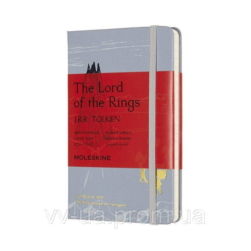 Записная книга Moleskine Lord of the Rings карманная, твердая обл., голубой, линия