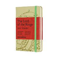Записная книга Moleskine Lord of the Rings карманная, твердая обл., салатовый, линия, фото 1