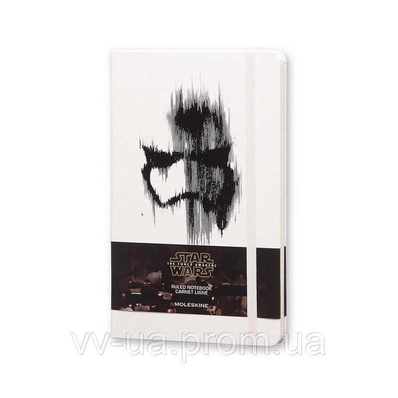 Записная книга Moleskine Star Wars средняя, твердая обл., белый, линия