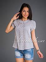 Блуза с пуговицами на спинке молочный