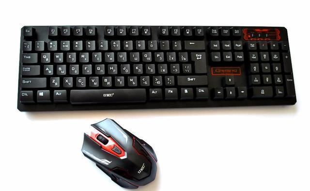 Клавиатура KEYBOARD HK-6500, Беспроводная клавиатура и мышь, Игровая клавиатура, Компьютерная Клавиатура