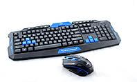 Клавиатура игровая KEYBOARD HK-8100, Комплект беспроводная клавиатура и мышка, геймерская клавиатура