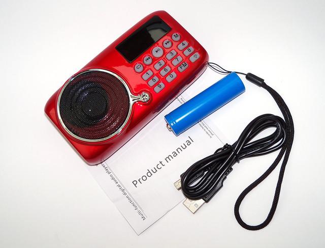 Мобильная колонка SPS U11 (JF11) + 1 Батарея, ФМ приемник с МП3 проигрывателем, Динамик с фонариком