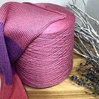 Бобинная пряжа меринос с шелком Zegna Baruffa art. Wooster 1400м цвет Confetto розовый с фиолетовой ноткой
