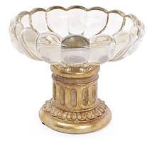 """Конфетница """"Adeola"""" Ø20см со стеклянной чашей"""