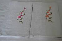 Полотенце для лица белое цветение