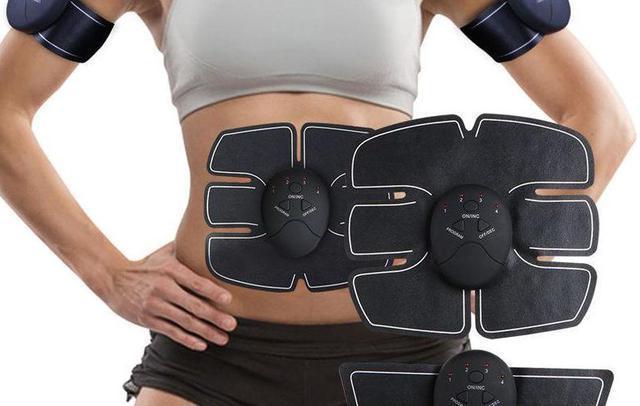 Массажер EMS-1, Пояс стимулятор мышц пресса, Массажер миосимулятор электронный бабочка