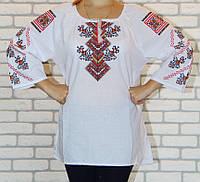 Женская вышитая сорочка прямого кроя