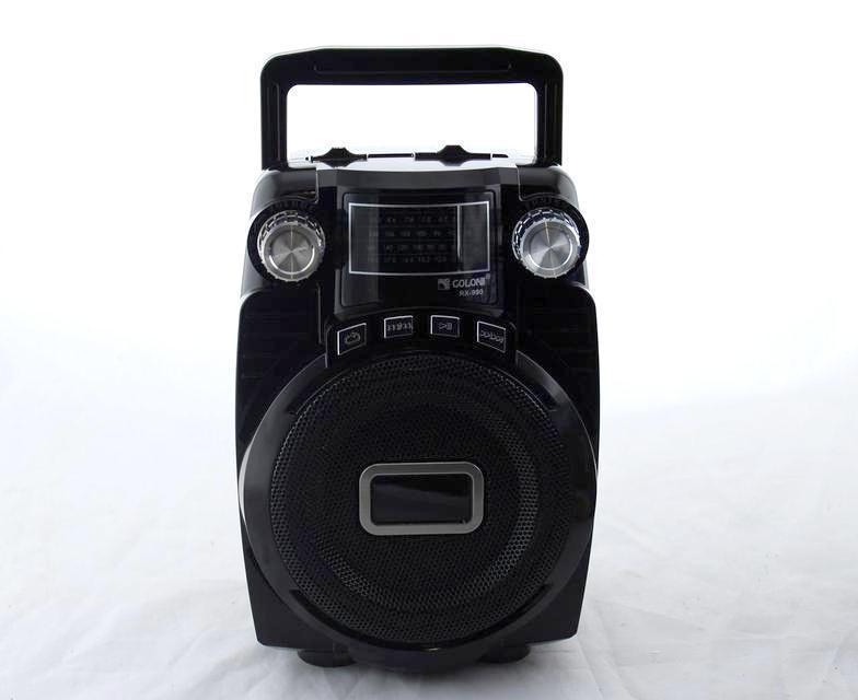 Радио RX 990, Портативный радиоприемник, Радио с аккумулятором, Портативная колонка, Компактное радио, фото 1
