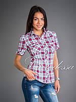 Рубашка клетка красный, фото 1
