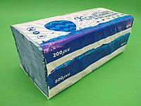 Бумажные полотенца листовые, Z/Zсинее(200 листов) Каховинка, 1 шт/пач