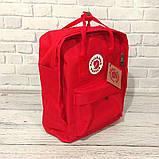 Хит! Яркий молодежный рюкзак сумка Fjallraven Kanken Classic канкен классик Красный + подарок, фото 4