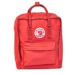 Хит! Яркий молодежный рюкзак сумка Fjallraven Kanken Classic канкен классик Красный + подарок, фото 6