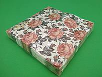 Серветка (ЗЗхЗЗ, 20шт) La Fleur Аромат троянди(1251) (1 пач.)