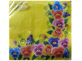 Дизайнерская салфетка (ЗЗхЗЗ, 20шт)  La Fleur  Фiалкова краса   (409) (1 пач)