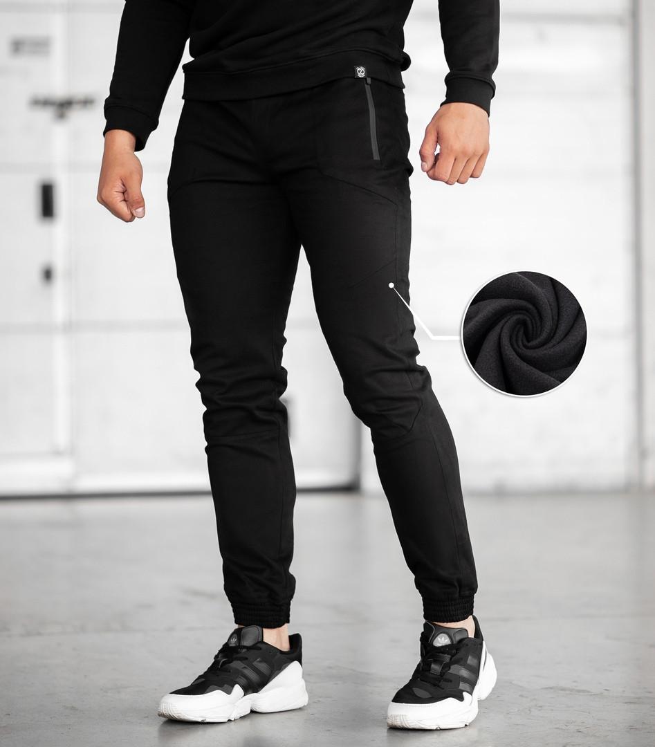 Мужские зимние джоггеры BEZET '20 (Black), утепленные мужские джоггеры