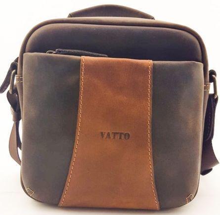 Сумка на плече шкіряна Vatto, коричневий