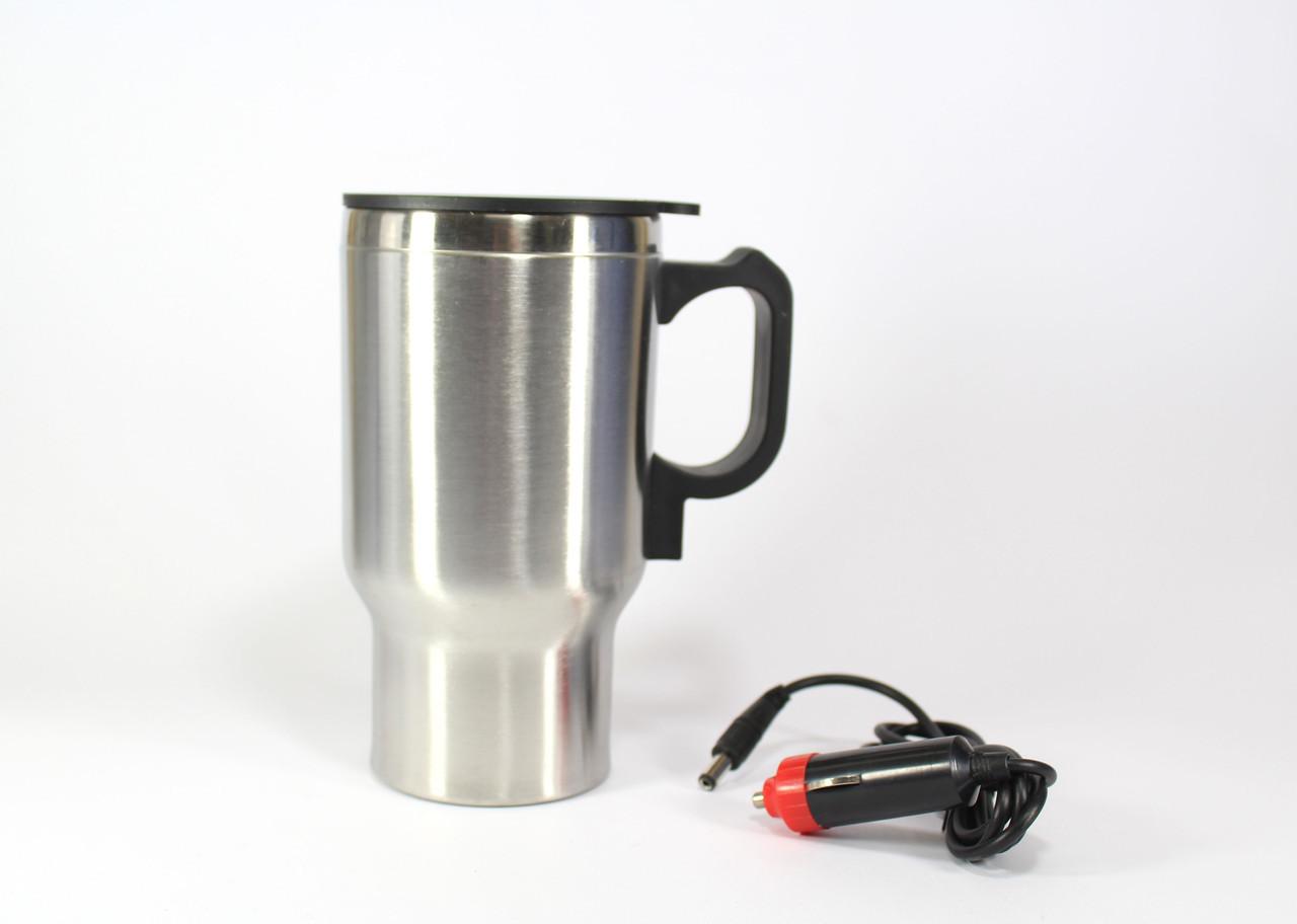 Автомобильная термокружка с подогревом от прикуривателя, Термокружка CUP 2240, Стакан в машину с кипятильником