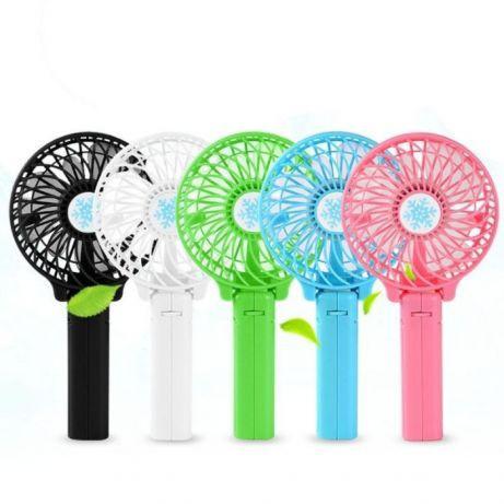 Мини вентилятор ручной mini fan, Портативный натольный вентилятор с аккумуляторной батареей, Мини Вентилятор