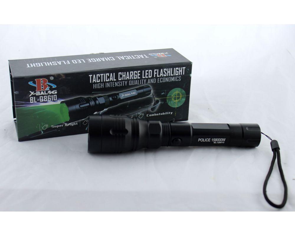 Подствольный фонарик BL Q8610, Зеленый тактический фонарик, Фонарь для охоты,  Ручной фонарь аккумуляторный