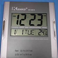 Часы KK 3810, Компактные электронные цифровые часы, Часы для дома, Часы с термометром, будильником