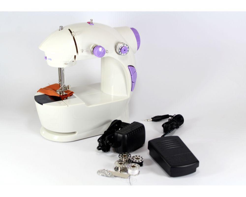 Машинка швейная FHSM 201 с адаптером, Швейная машинка портативная, Мини швейная машинка,
