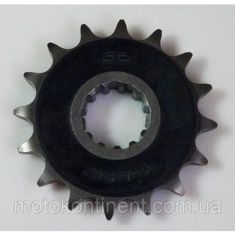 JTF1370.16RB Звезда ведущая 16 зубов с демпфером для мотоциклов Honda ,аналог Sunstar SS 41116