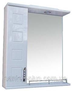 Зеркало с пеналом и подсветкой для ванной комнаты Кватро-60