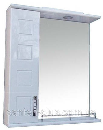 Зеркало с подсветкой и пеналом для ванной комнаты Кватро-65, фото 2