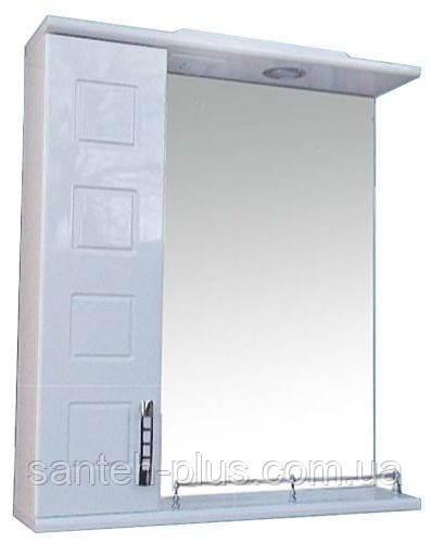 Зеркало с подсветкой и пеналом для ванной комнаты Кватро-65
