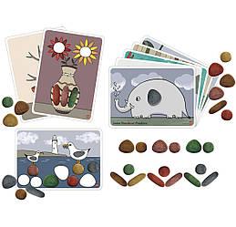 Радужная галька. Эко набор натуральных цветов с карточками EDX Education