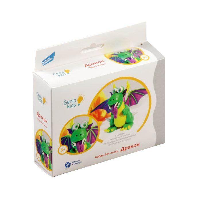 Набір Genio Kids-Art для дитячого ліплення тісто-пластилін Дракон (TA1075)