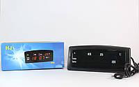 Часы CX 909 green, Часы цифровые настольные,Электронные часы, Настольные часы c будильником,Часы с термометром, фото 1