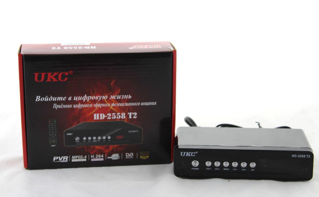 Тюнер DVB-T2 2558 METAL с поддержкой wi-fi адаптера, Приставка Т2 цифрового тв, Приемник тюнер металлический